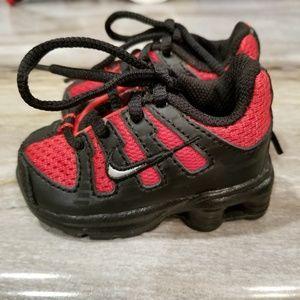 Rare Baby Boy Nike Shox Red Black 2006 Shoes 62d370a8b